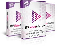WP Video Machine – Automated Software to Get unlimited traffic and backlinks from Google's top video site for FREE. Turn all your blog posts into videos at the click of a button