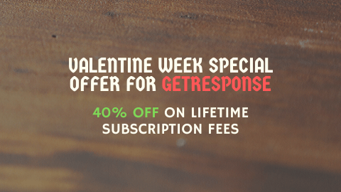 GetResponse Valentine Week Special Deal