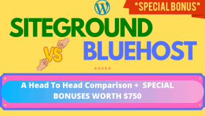 SiteGround Vs BlueHost - Head To Head Comparison