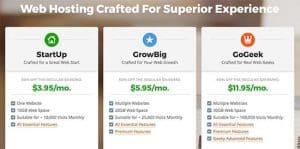 SiteGround Pricing Plan