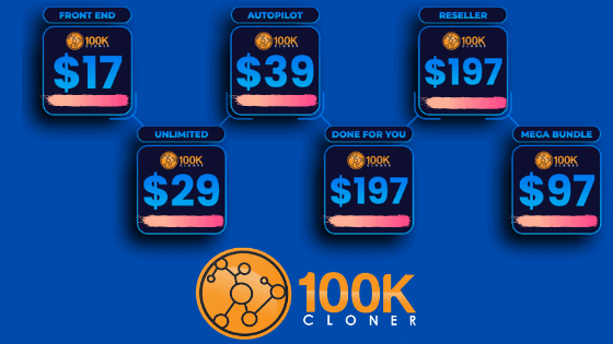 100K-Cloner Review - Pricing And Upgrades